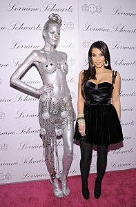 Kim Kardashian and Silver Model