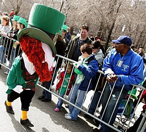 Leprechaun at a St. Patrick's Day Parade