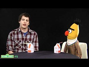 Sesame Street's Bert and Andy Samberg