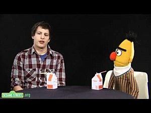 Sesame Street's Bert and Andy Samberg
