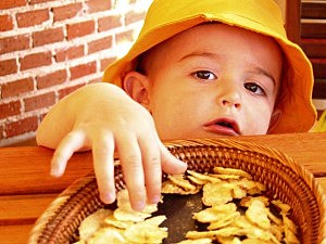 Baby with chips