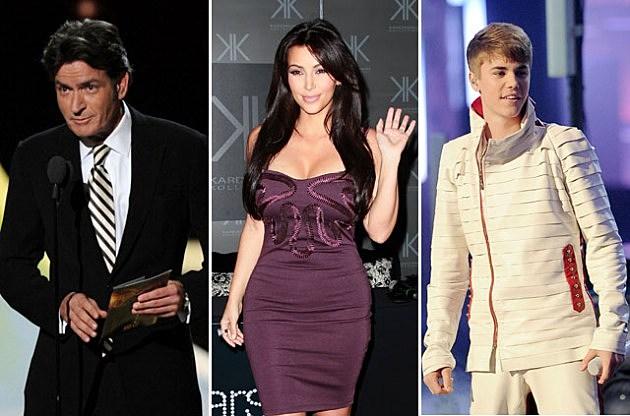 Charlie Sheen - Kim Kardashian - Justin Bieber