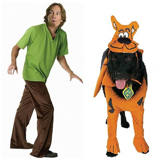 Shaggy and Scooby Doo dog