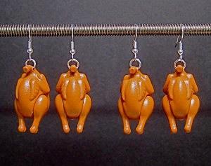 lego turkey earrings