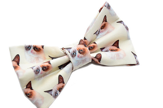 grumpy cat bow-uniquechicbowtique