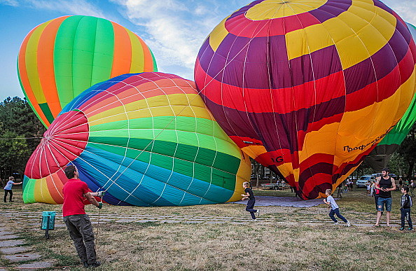 International hot air balloon festival in Southern Russia